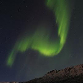 Aurora by Geir Lakselvhaug - Landscapes Starscapes ( #aurora, #mountains, #sky, #night, #lofoten )