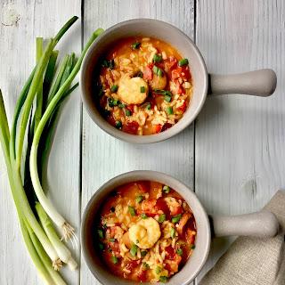 One Pot Jambalaya Soup.
