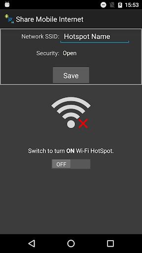 Share mobile Internet 3G