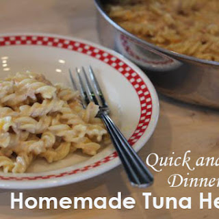 Homemade Cheesy Tuna Helper.