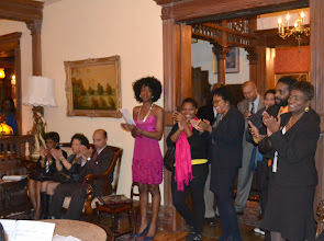 Photo: Guests applauding Noel Pointer String Quintet
