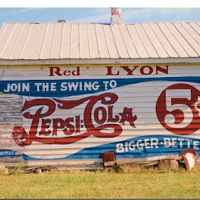 Pepsi  by Teresa Wooles - Products & Objects Signs ( sign, old building, pepsi,  )