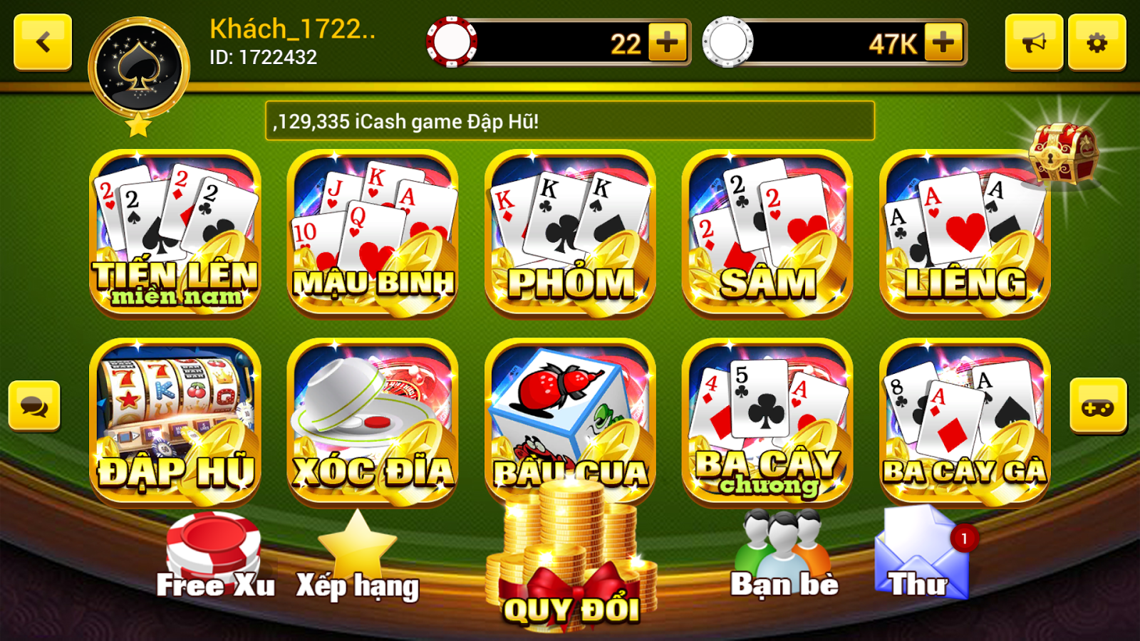 Game danh bai doi thuong - xGame- screenshot