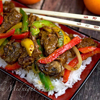 Slow Cooker Orange Beef & Fire Peppers.