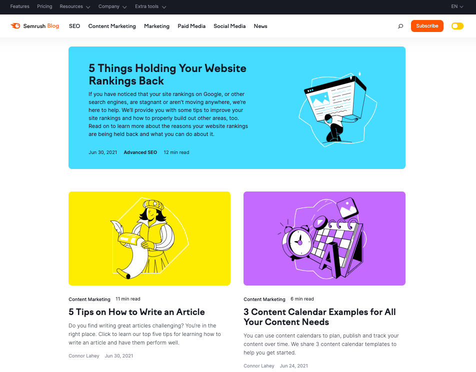 semrush.com - top marketing blogs to follow