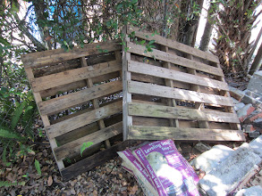 Photo: These pallets were left over from a paving project and I figured I'd recycle them.