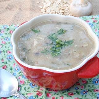 Mushroom Oat Soup.