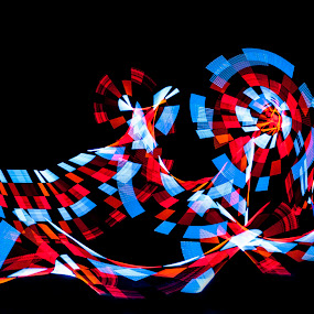 by Russell Mander - Abstract Light Painting ( checkered, colours )