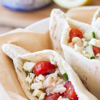 Easy Greek Pita Sandwich.