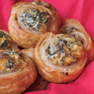 Spinach And Ricotta Puff Pastry Rolls.