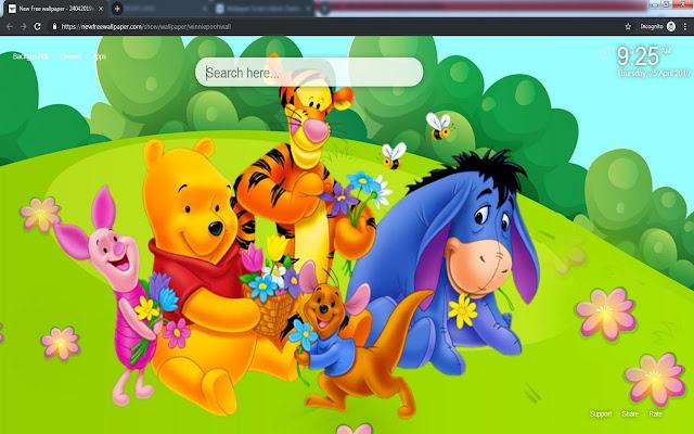 Winnie the pooh cute wallpaper new tab
