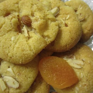 Apricot Chickpea Flour Cookies