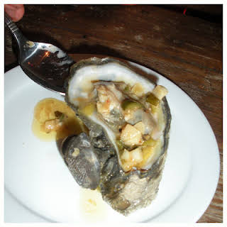 Grilled Oysters with Jalapeno Butter Sauce.