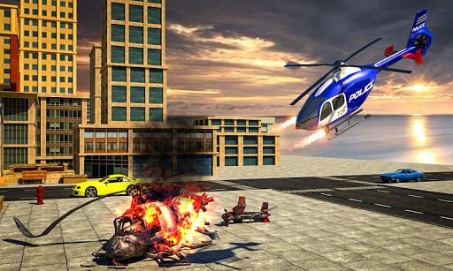 Police War Robot Superhero: Flying robot games ss3