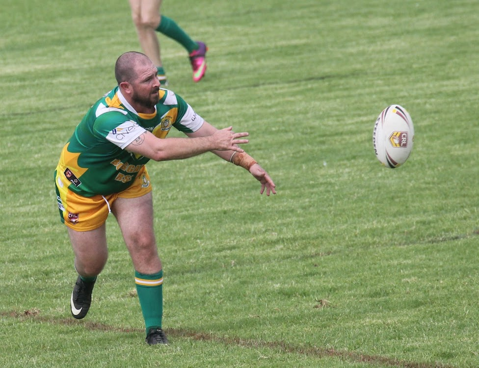 Boggabri Kangaroos 2017 captain-coach David Harris launches a pass from dummy half earlier in the year in the Group Four Second Division. In 2018 the Kangaroos will play their footy in first grade.