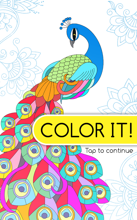 Color It Free Coloring Book Screenshot