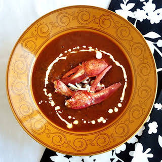 Roasted Tomato Fennel Lobster Bisque.