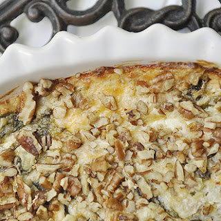 Artichoke Spinach Dip with Chopped Pecans
