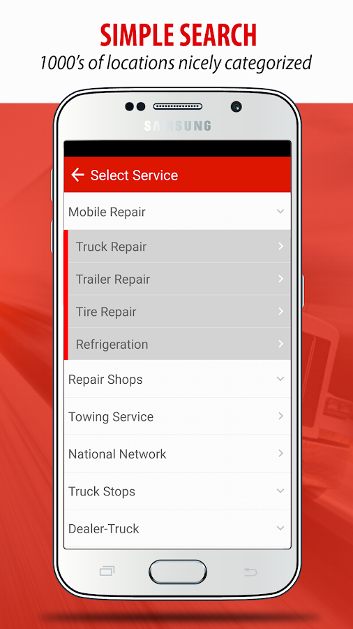 Find Truck Service & Stops- screenshot