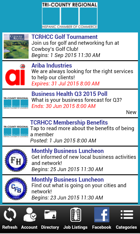 TCRHCC Mobile App- screenshot