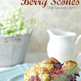 Homemade Berry Scones.