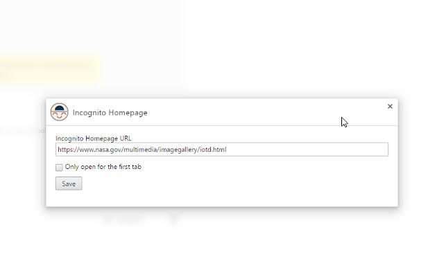 Incognito Homepage