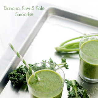 Banana, Kiwi and Kale Smoothie.