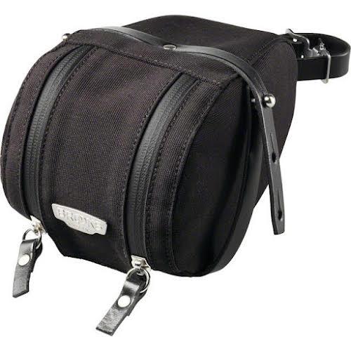 Brooks Isle of Wight Saddle Bag: Medium-Black