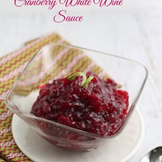 Cranberry White Wine Sauce