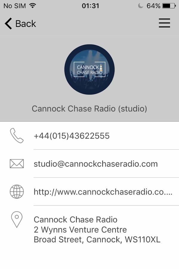 Cannock Chase Radio- screenshot