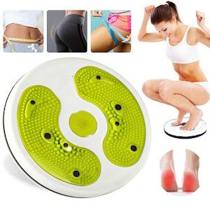 Disc rotativ cu corzi pentru fitness, Waist Twisting, capacitate 90 kg