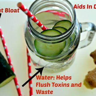 Flat Belly Cucumber Ginger Water.