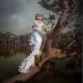 by Al Hilal - Wedding Bride ( tree, waterscape, bride )