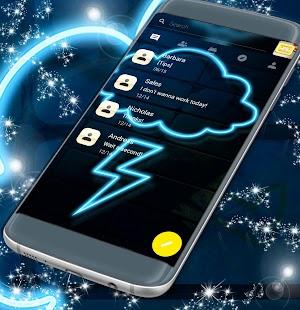 Témata SMS zdarma Neon Blue - náhled