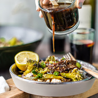 One Pan Mongolian Beef with Veggies and Rice
