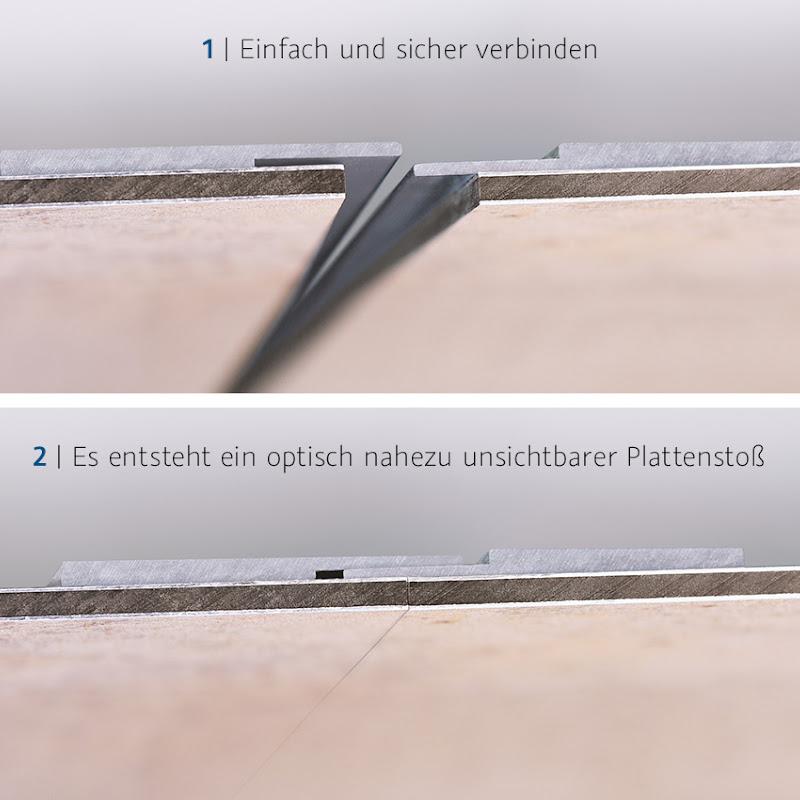 Technisch und optisch überzeugend: Das neue HSK Plattenstoßprofil für RenoDeco