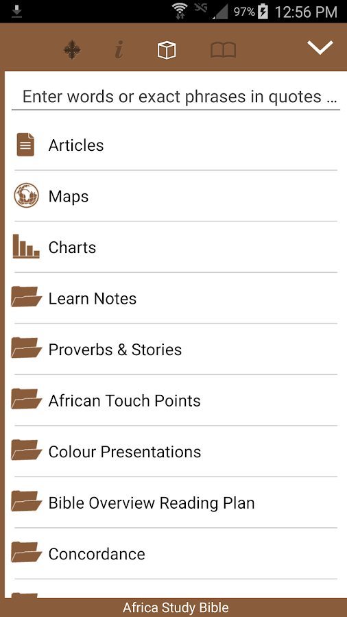 Africa Study Bible- screenshot
