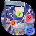 Stylish Romantic Theme: Neon Night Street Launcher download