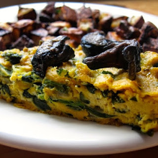 Spinach Frittata with Shiitake Bacon