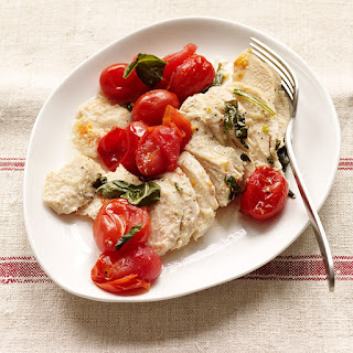 Grilled Chicken, Tomato and Basil Packets