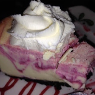 White Chocolate Raspberry Truffle Cheesecake.