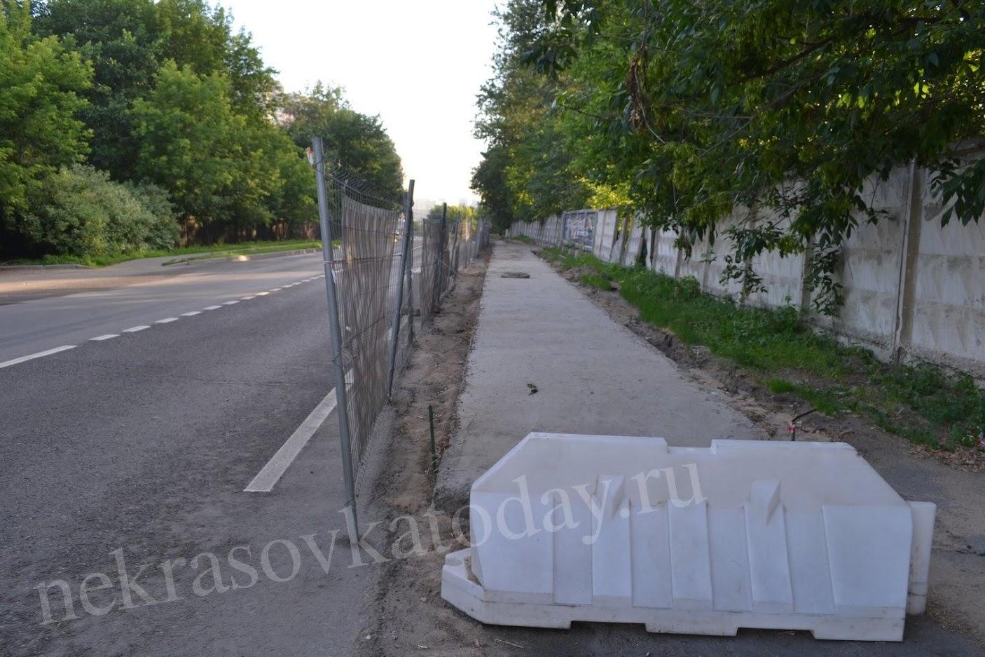 Будущий тротуар на 2-й Вольской ул.