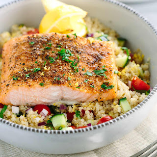 Mediterranean Spiced Salmon and Vegetable Quinoa