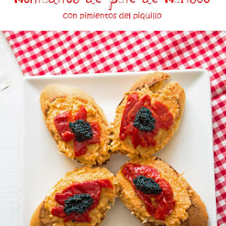 Toast with Seafood Spread and Piquillo Peppers.
