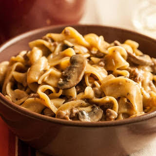 One-Pot Beef Stroganoff with Egg Noodles.