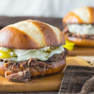 Crock Pot Mississippi Roast Sandwiches