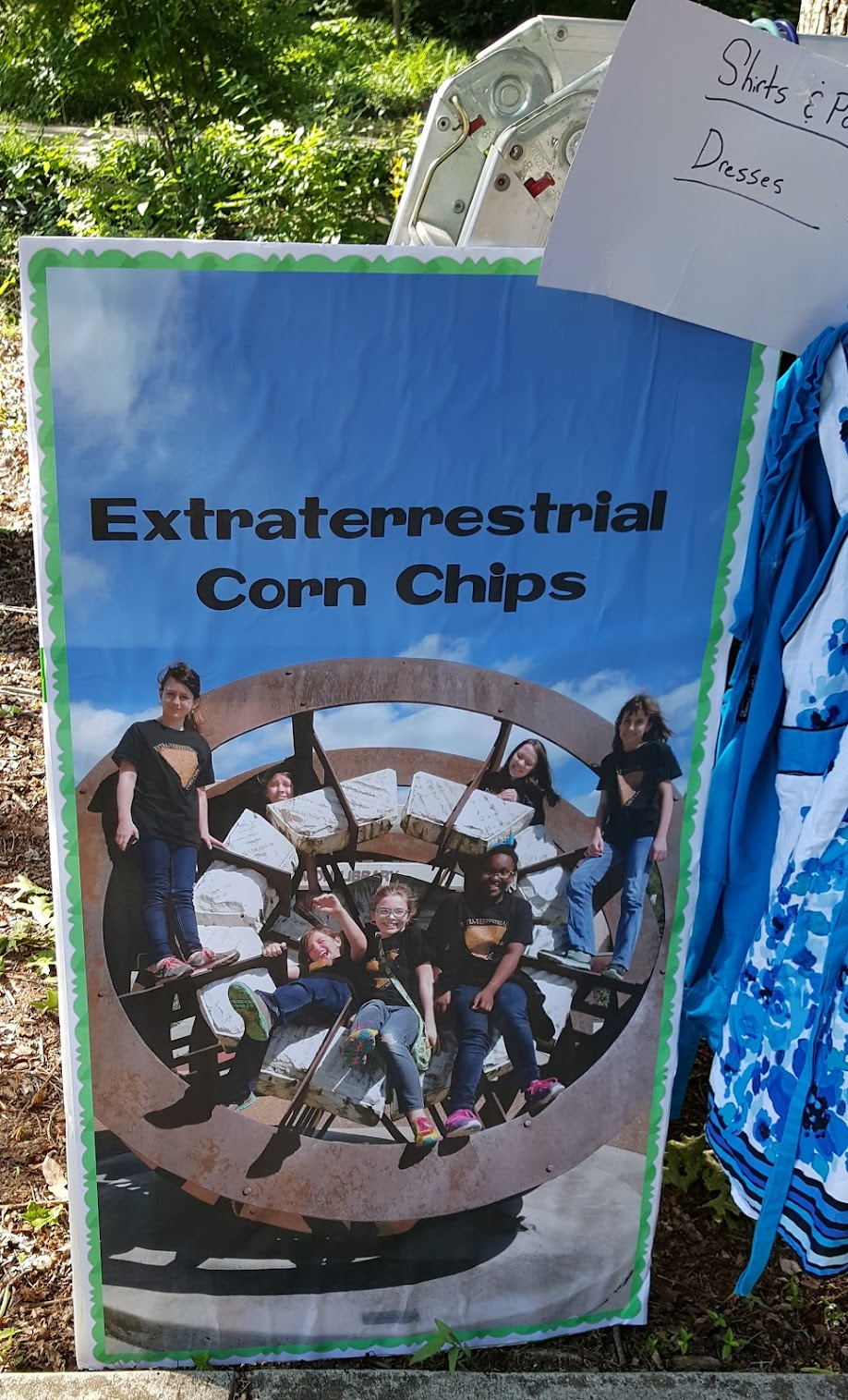 Extraterrestrial Corn Chips Poster YARD SALE FIND