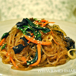 Japchae - Korean Glass Noodles.