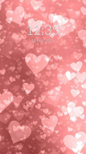 Pink Hearts Wall Lock