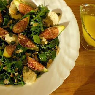 Figs Salad With Arugula And Mozzarella.